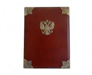 фото адресной папки с гербом